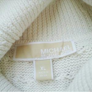 MICHAEL Michael Kors Sweaters - Michael Kors Cream Cableknit Cowlneck Sweater